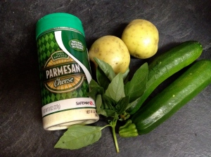 ingredients for zucchini and potatoes baby food